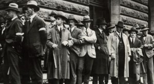 'Specials' with truncheons Melbourne Town Hall 1923