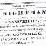 Advertising for a Nightman 1884