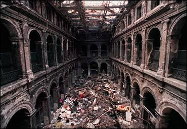 Melbourne GPO 2001, after fire