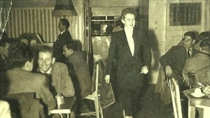 Val Eastwood at Val's Cafe, Swanston Street, 1950s