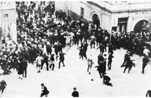 Specials attack rioters 1923